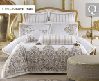 Linen House Couture Queen Quilt Cover Set - Gold 1