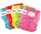 ones&twos Girls' Cloth Nappy 5-Pack 4