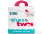 ones&twos Cloth Nappy 5-Pack - White 3