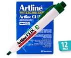 Artline CLIX Whiteboard Marker 12-Pack - Green 1