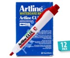 Artline CLIX Whiteboard Marker 12-Pack - Red 1