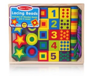 Melissa & Doug Wooden Lacing Beads