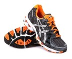 Men's ASICS Gel Nimbus 12 - Coal/Orange 1