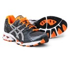 Men's ASICS Gel Nimbus 12 - Coal/Orange 3