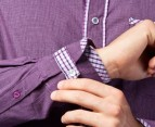 English Laundry Cedrick Shirt - Purp Check 2