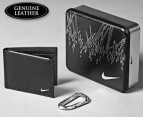 Nike Leather Wallet w/ Carabiner & Tin 1