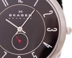 Skagen Black Leather & S/S Watch 2