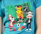 Paul Frank School Locker Tee - Teal 2