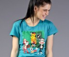 Paul Frank School Locker Tee - Teal 3