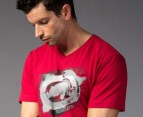 Men's Ecko T-Shirt - Faster Raster Red 2