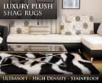 Luxury Shag Rug 160x230cm - Blk/Wh 1