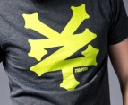 Zoo York Men's Logo Tee in Charcoal Lime 3