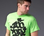 Zoo York Graffiti Logo Tee in Lime 2