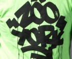 Zoo York Graffiti Logo Tee in Lime 3