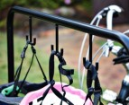LARGE 6 Bike Steel Rack w/ Helmet Hooks 2