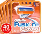 40 x Gillette Fusion Power Razor Cartridge 1