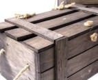 Crate-Style Wooden Lidded Boxes 3-Piece Set 3